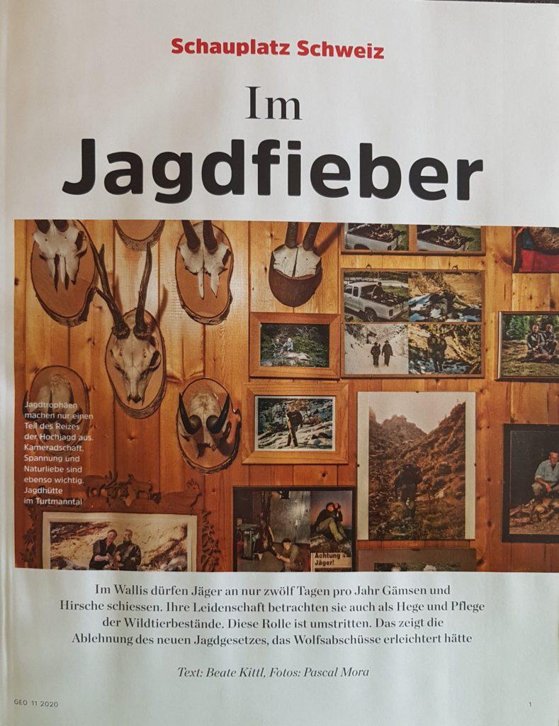 Titelseite GEO Oktober 2020 Beate Kittl Jagd