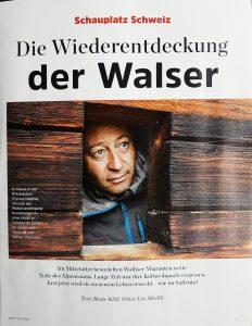 Dies ist das Titelbild des GEO Schauplatz Schweiz-Artikels über die Walser